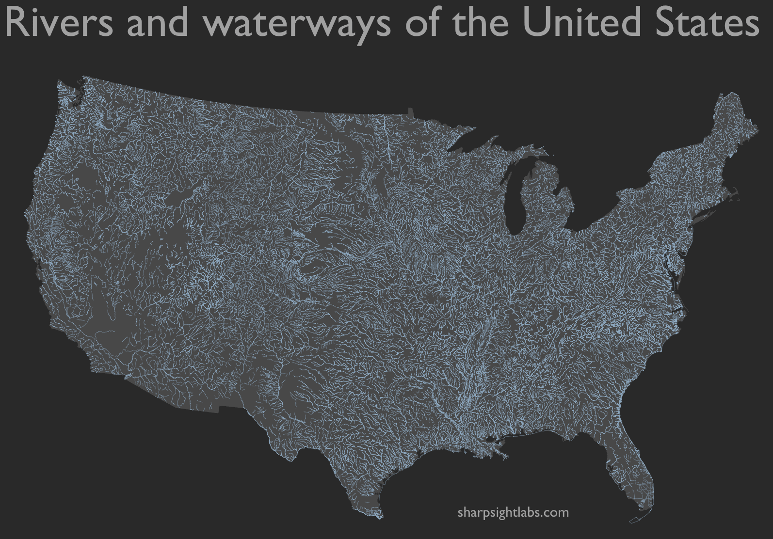 How to map geospatial data: USA rivers - Sharp Sight