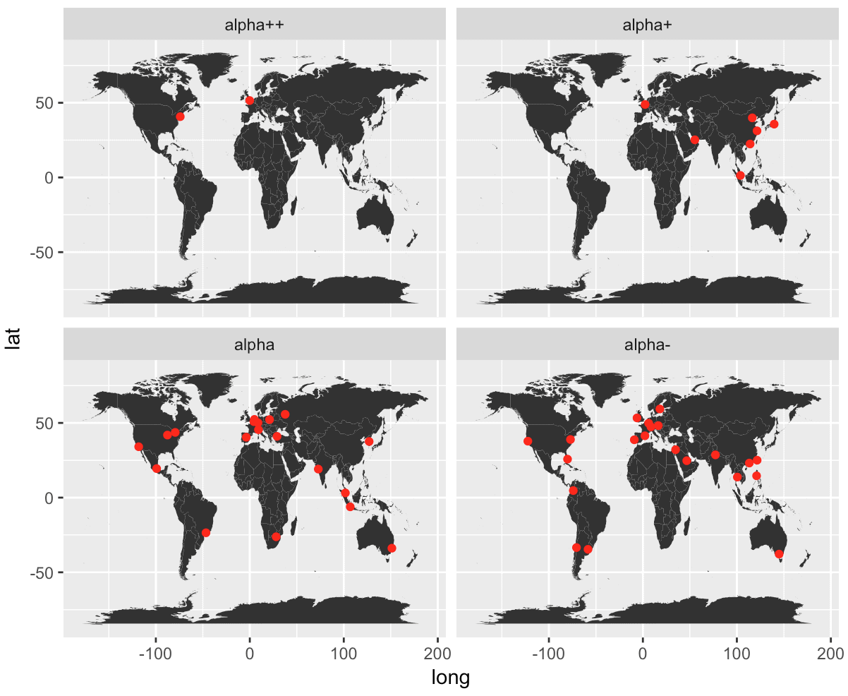 Ggplot World Map.Mapping World Cities In R Sharp Sight